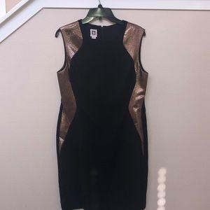 Anne Klein Black/Gold Dress